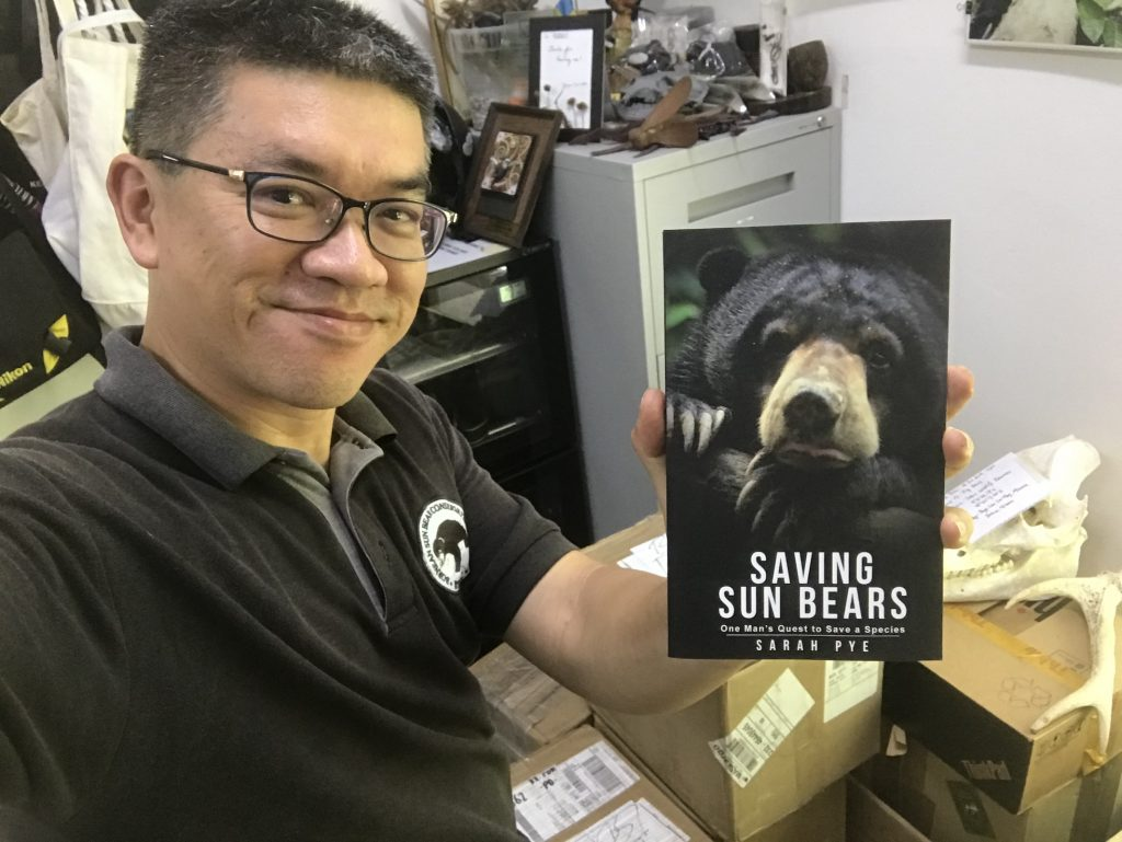 Wong with a copy